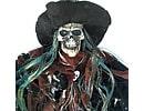 Скелет в колпаке подвесной декор 75см