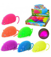Мышь Е-Ёжик - игрушка антистресс светящаяся
