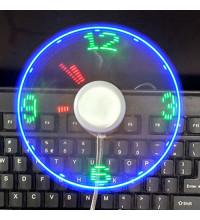 USB Вентилятор с LED часами