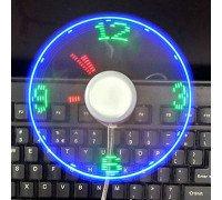 USB Вентилятор з LED годинником