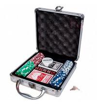Покерний набір на 100 фішок - алюмінієвий кейс