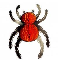 Паук бумажный 3D украшение на Хэллоуин 35 см