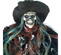Скелет у ковпаку підвісний декор (75см) з миготливими очима і звуком
