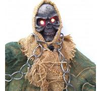 Скелет в ланцюгах підвісний декор з миготливими очима і звуком