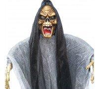 Скелет Ужасный подвесной декор (45см) с мигающими глазами и звуком