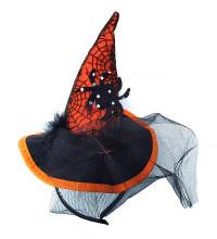 Шляпа-ободок Колпак Ведьмы с вуалью