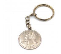 Брелок монета Quarter Dollar