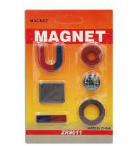 Набор магнитов для игр и опытов, 6 предметов