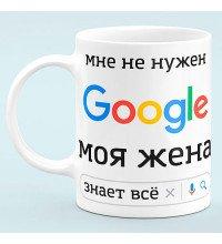"""Чашка """"Мені не потрібен Google"""""""