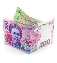 Гаманець (портмоне) у вигляді купюри 200 гривень