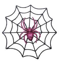Павутина з павуком, декор на Хеллоуїн