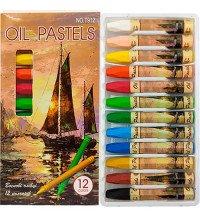Восковые карандаши 12 цветов