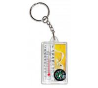 Брелок с компасом и термометром