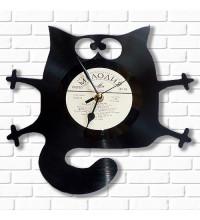 Настенные часы Кот из виниловых пластинок