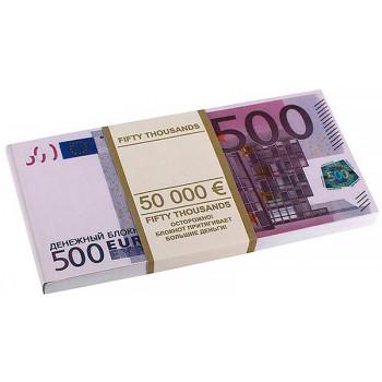 """Грошовий блокнот """"пачка євро"""""""