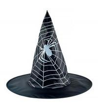 Ковпак відьми чорний з павутиною