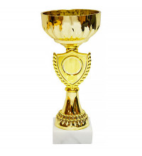 Кубок в форме золотой чаши  16cм