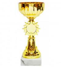 Кубок наградной в форме золотой чаши 18cм