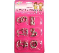 Набор из 6 головоломок (металл)