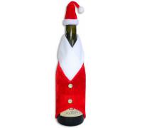 Новорічний костюм (Дід Мороз) на пляшку