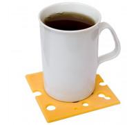 Подставка под чашку в виде сыра