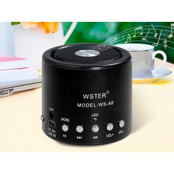 Портативная колонка WSTER WS-A8 с MP3 и FM pадио