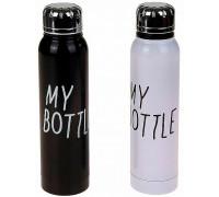 Термос My Bottle чорний і білий