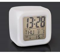 Цифрові світлодіодні годинник (ЖК-дисплей, будильник, що змінюються кольори підсвічування)