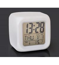 Цифровые светодиодные часы ( ЖК-дисплей, будильник, изменяющиеся цвета подсветки)