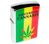 Зажигалка бензиновая Cannabis