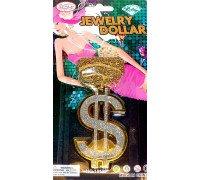 Американський долар на золотому ланцюзі