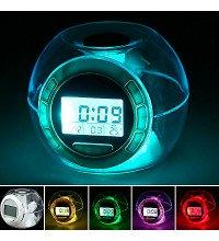Годинники Будильник 6 Nature Sound Clock 7 кольорів світіння