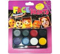 Прикольні дитячі фарби для особи, аквагрим на 8 кольорів