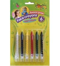 Неоновий грим олівці, набір 6 кольорів
