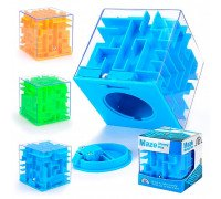 Головоломка скарбничка Куб-лабіринт з кулькою всередині