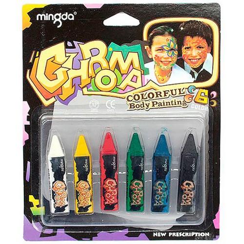 Грим для особи набір олівців 6 кольорів